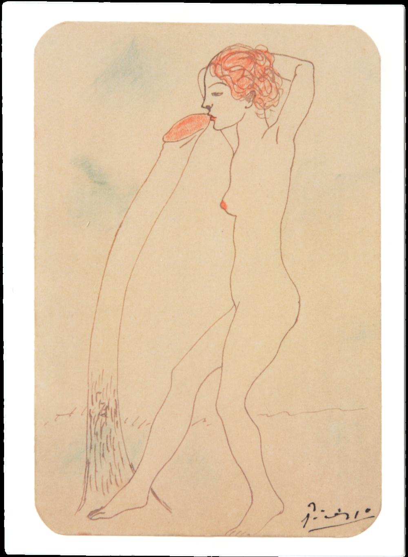 Dibujo Erotico, Pablo Picasso, 1902-1903 Barbarcelona, Spain