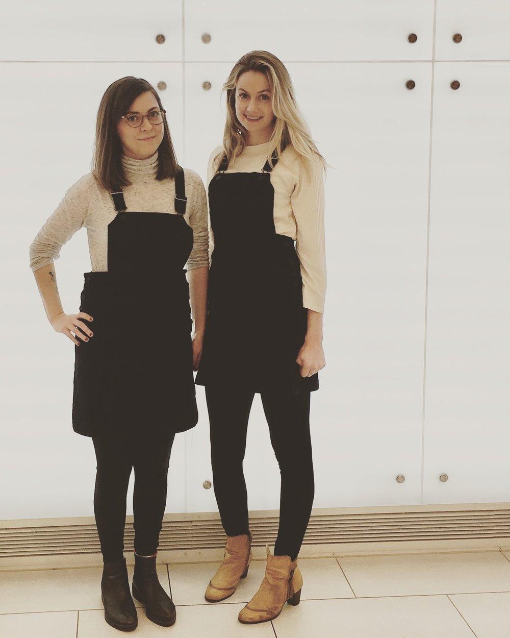 Matching Jean Dresses