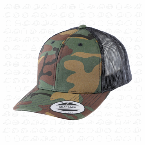 Retro Camo Trucker Cap — London Snapbacks 1f7a214d6a9
