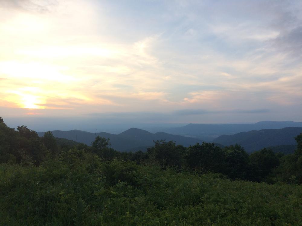 Sunset over the Shenandoah Valley