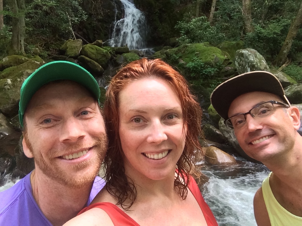 Doug, John and I making selfies happen in front of Mouse Creek Falls