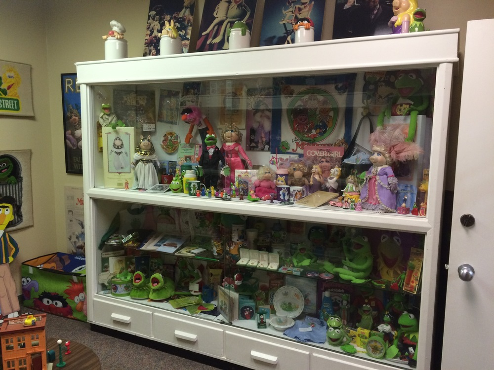 One of the three memorabilia display cases - not pictured, one entirely dedicated to The Muppet Babies