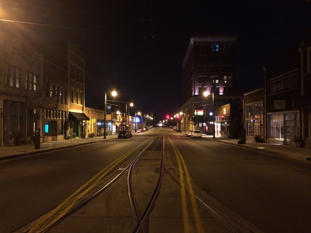 Main Street after dark