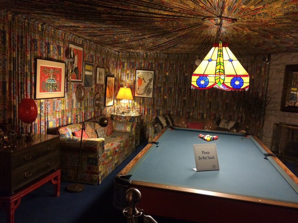 The Pool Room - please notice the extensive upholstery job