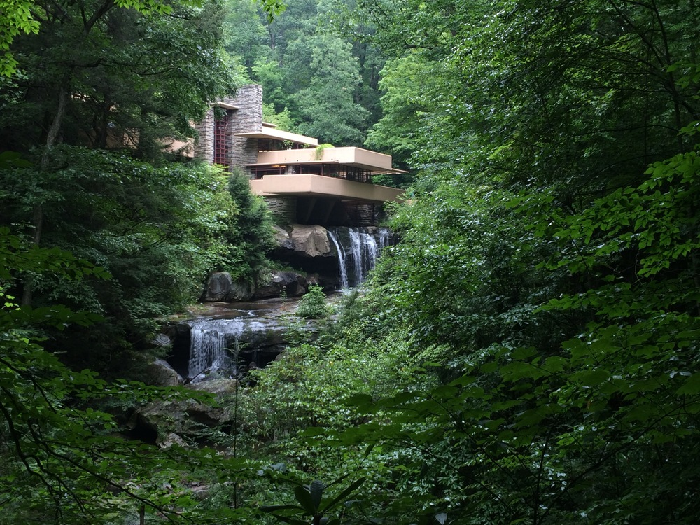Falling Water by Frank Lloyd Wright, Mill Run, Pennsylvania - I was really looking forward to seeing this, but balked a little at the $25 admission fee.  I'm glad my good sense took over and we went.  Whatever you do, see this if you are in the area.  It has made me a huge FLW fan.  It was stunning to see his creative thought process put to life.