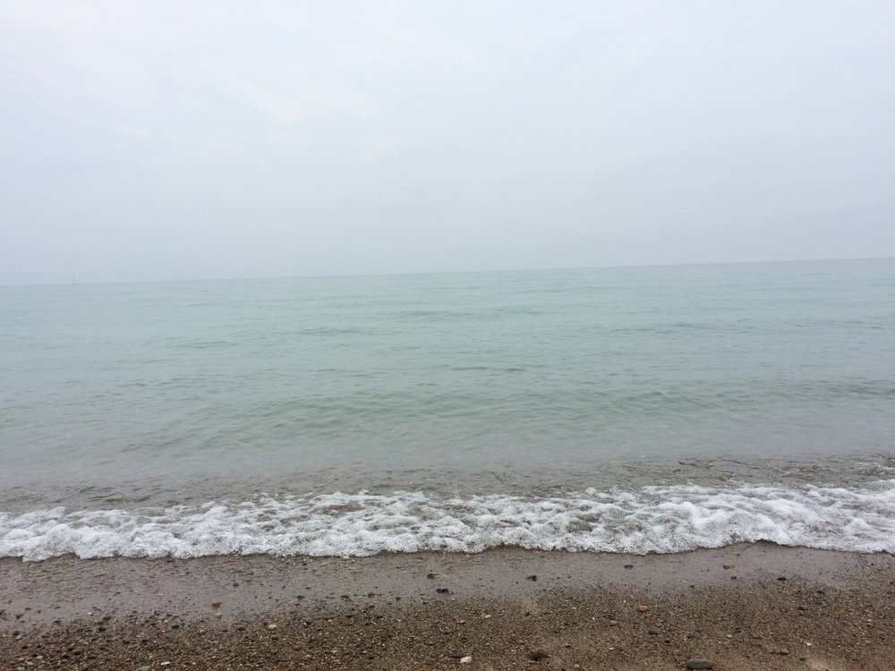 This is a lake.  Lake Michigan to be exact.  Like, there are several cities on the other side of this, which one cannot see - Grand Beach, Michigan