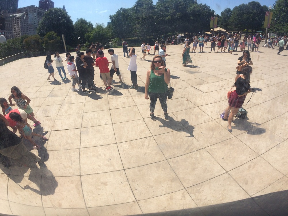 "Me in Cloud Gate (aka, ""The Bean"") - Millenium Park, Chicago"