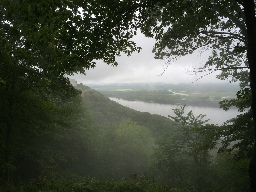When I finally left this amazing first campground on my journey West, I was ushered out through a cloud -  Great River Bluffs State Park - Winona, Minnesota
