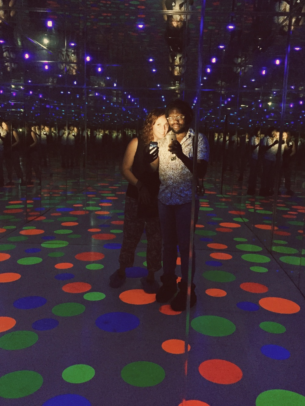 Yayoi Kusama's Infinity Dots Mirrored Room - this was my second favorite.  Isaac clearly knew what he was doing with his light sources.
