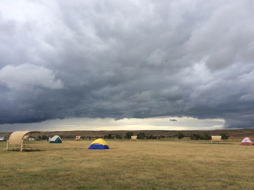 Sage Creek Campground pre-storm