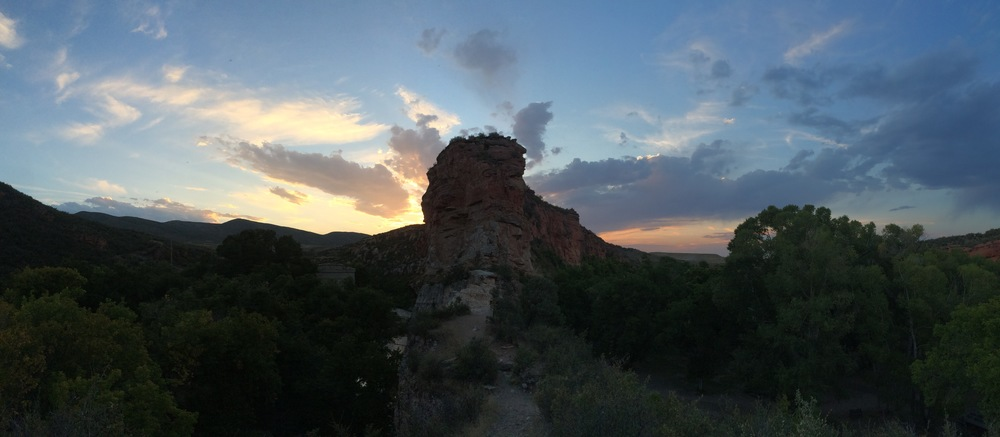 Obligatory sunset panorama