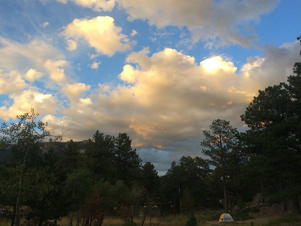 Mother Nature gave me an unexpectedly beautiful gift for my last evening in RMNP - Moraine Park Campground, Site A125