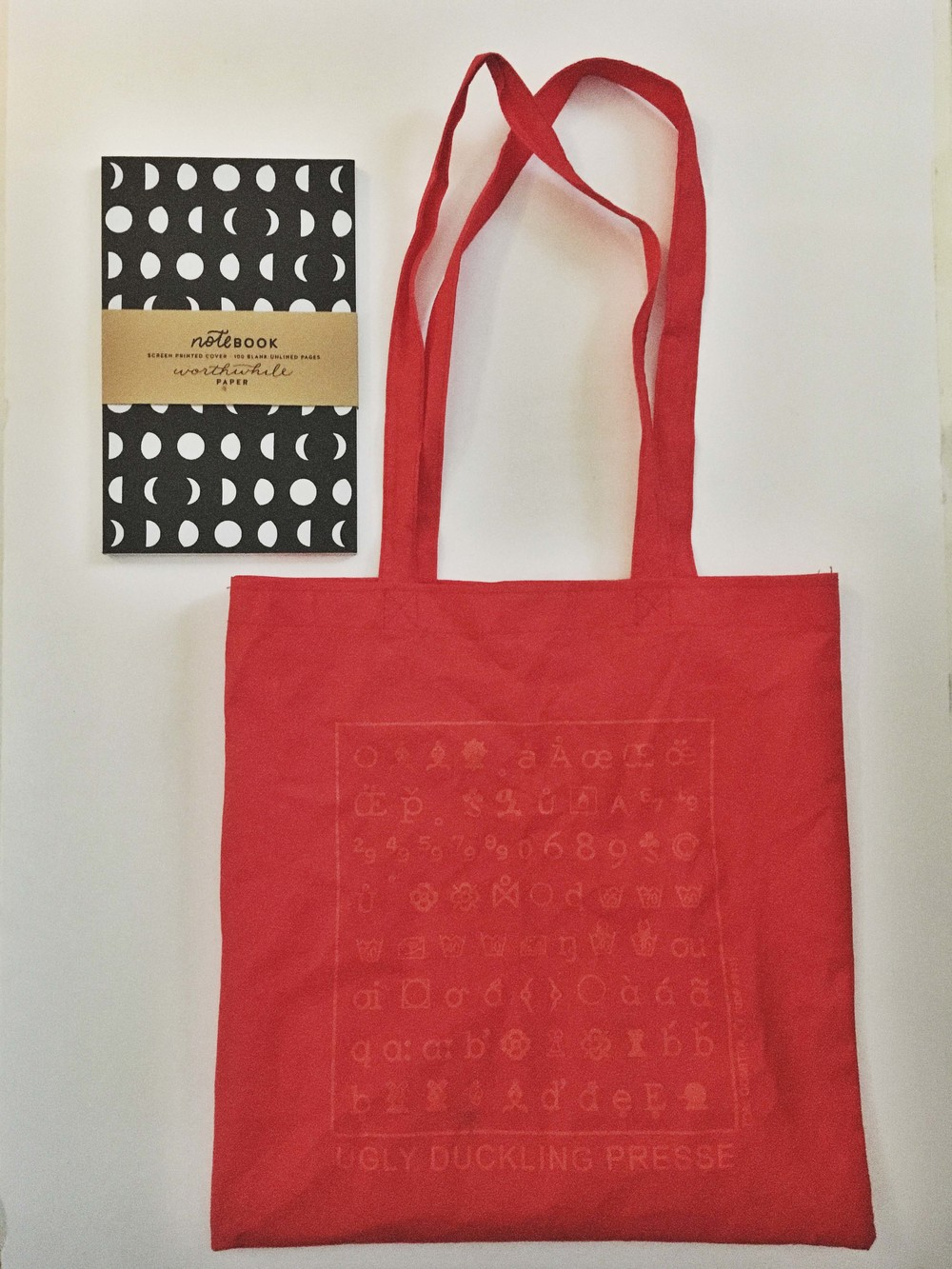 Tote bag from Ugly Duckling Presse & Notebook from Worthwhile Paper