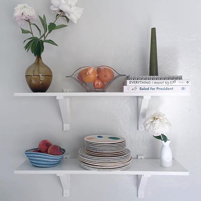 a beautiful #shelfie curated by @emmsesee including an indigo dyed rope bowl 💙