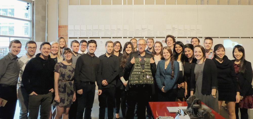 Members of the Storefront Studio with Professor Hildebrandt
