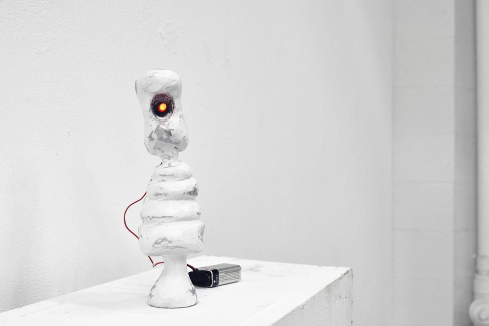 Sculpture - Cast Aluminum, LED, Wire, Battery