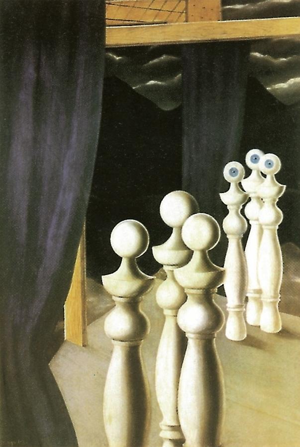 La Rencontre, Rene Magritte.