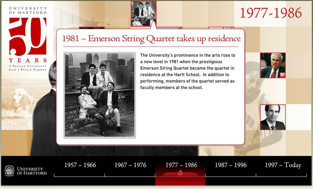 Paul played with the Emerson String Quartet in 1981.