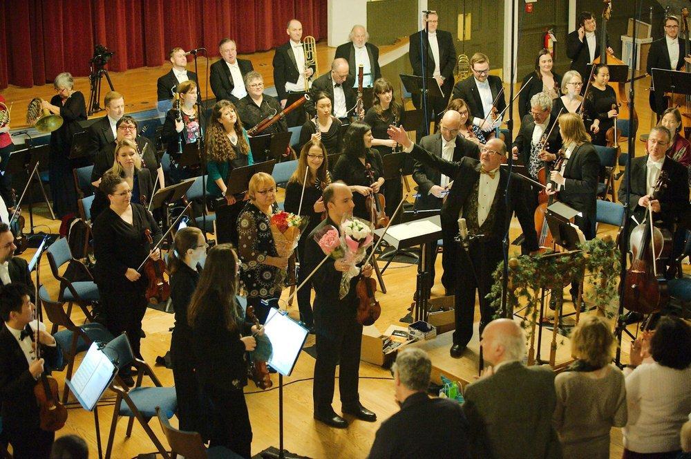 Angel Valchinov, violin soloist, with The Claflin Hill Symphony Orchestra on Saturday, November 10, 2018