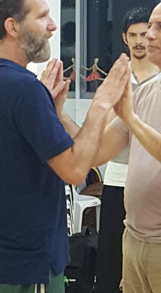 Teaching huajin (continuous changing power) in Israel.