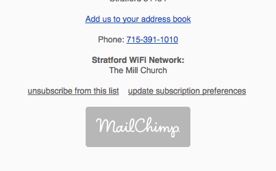 "Click the  ""update subscription preferences""  link to adjust which emails to receive."