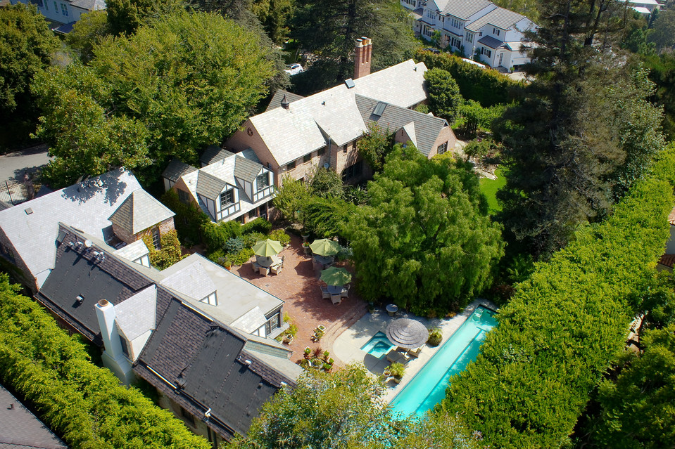 The house is Tudor-style. MARC ANGELES The Los Angeles home of Oscar-winning screenwriter Robert Towne is expected to close for $9.65 million. MARC ANGELES