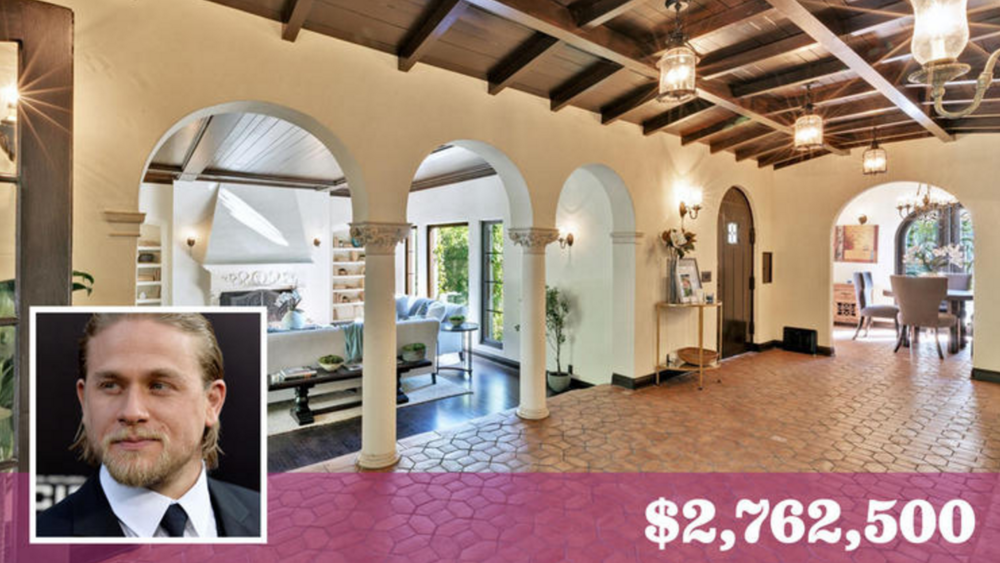 """Sons of Anarchy"" star Charlie Hunnam has bought a house in Hollywood Hills West for about $2.76 million.   (Realtor.com 