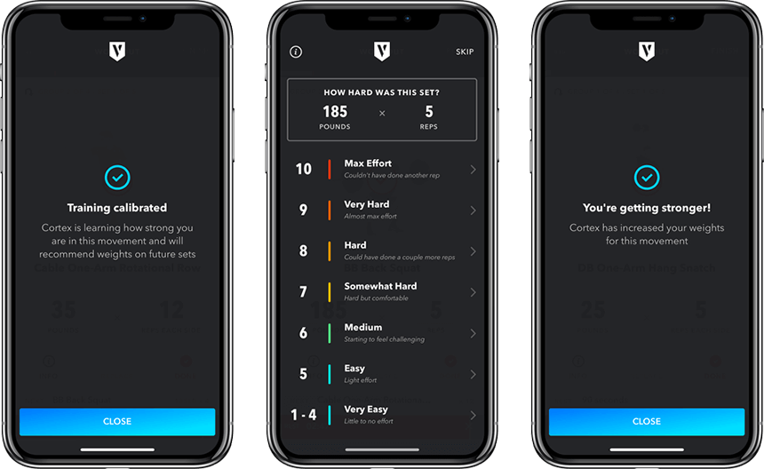 Cortex, Volt's performance training AI, tracks and analyzes athlete progress, then adjusts their training in real-time to match the athlete's actual capabilities during each workout.