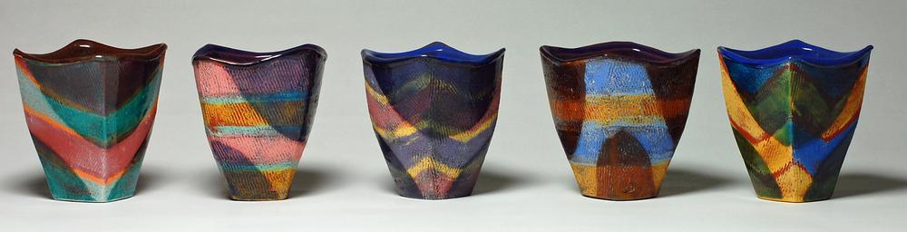 Handbuilt cups, 2015