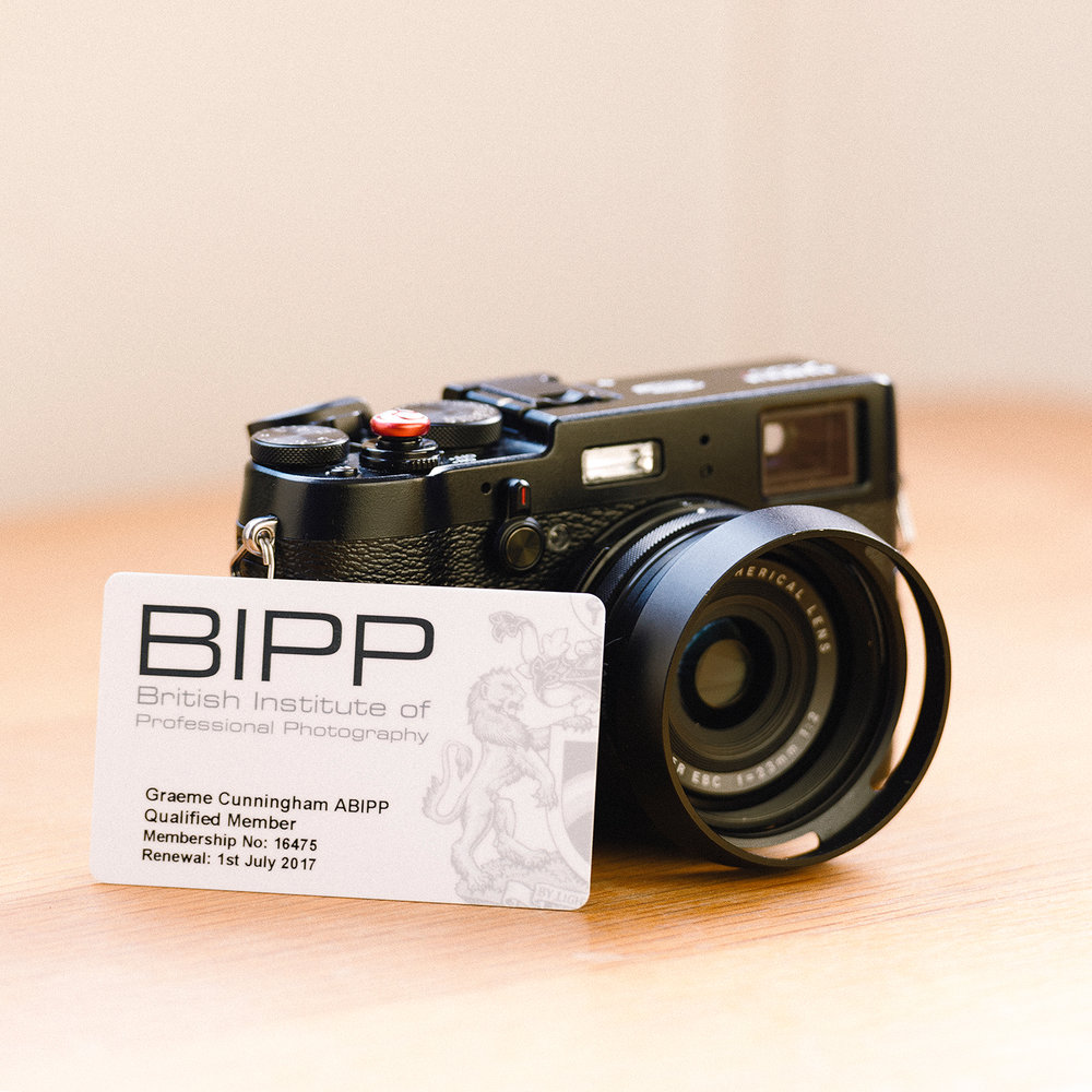 My ABIPP membership card, supported by my trusty Fuji x100T.