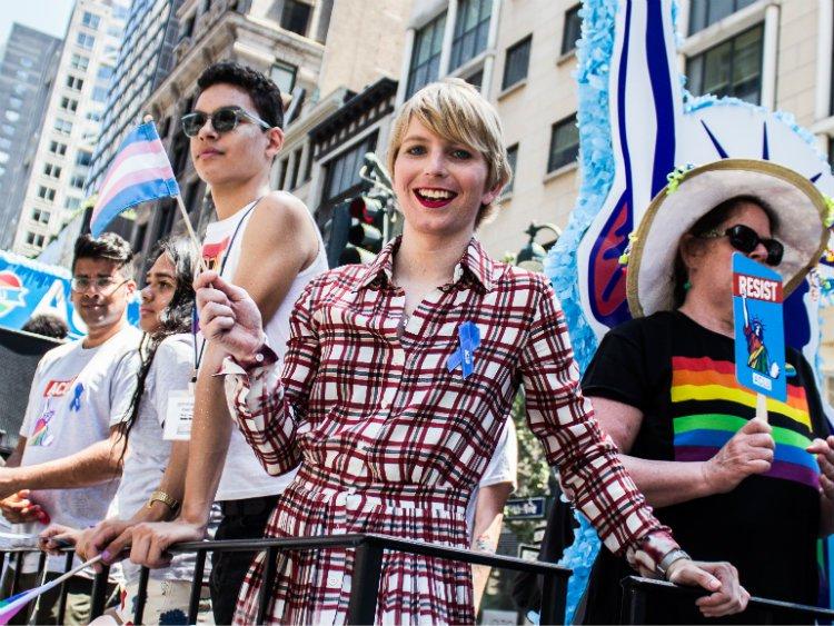 Chelsea Manning v červnu během NYC Pride