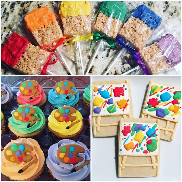 Kids birthday pARTies are a good opportunity for lots of fun and color!