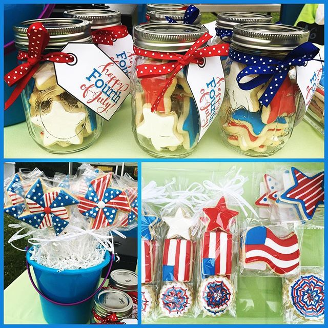 Wishing everyone a Happy 4th of July weekend! Swing by the Northfield Farmers' Market this morning, open until 12:30pm, for some tasty treats for your weekend celebrations! 🇺🇸🎉 #customcookies #decoratedsugarcookies