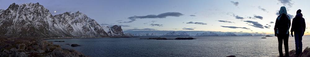 Dusk near Sigerfjord, northern Norway