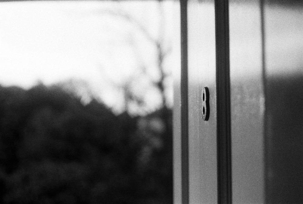 Front door at dawn – shot on vintage film camera