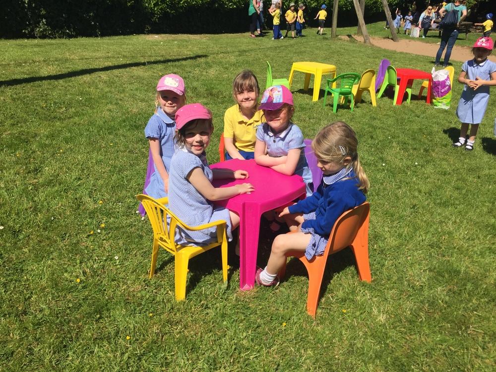 Enjoying a picnic in the sunshine