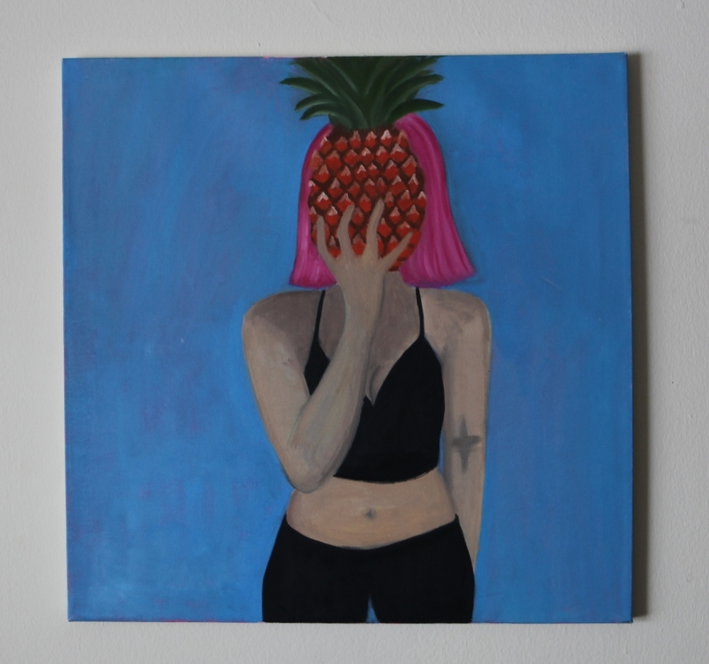 "PINEAPPLE GIRL (24"" x 24"" OIL)"