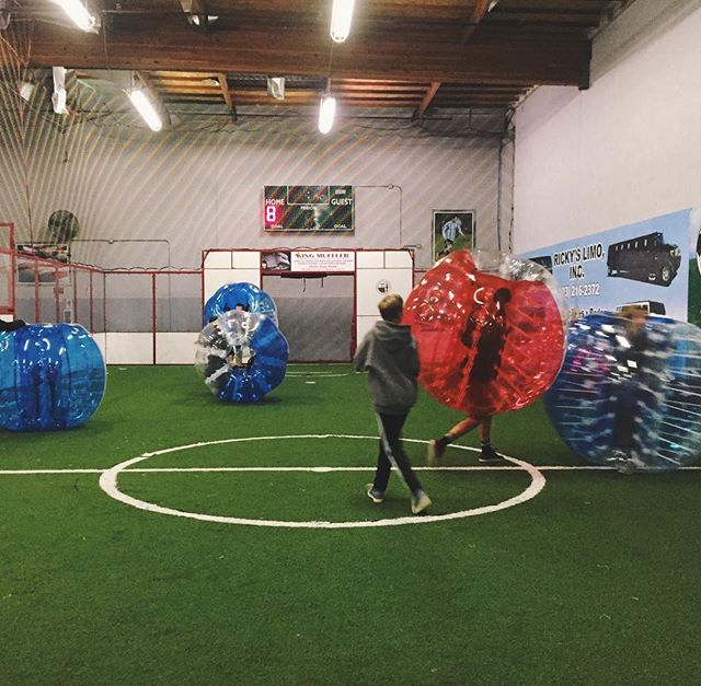 The kids got some nice indoor bubble soccer reps in tonight. A nice warm way to stay out of the rain, right?