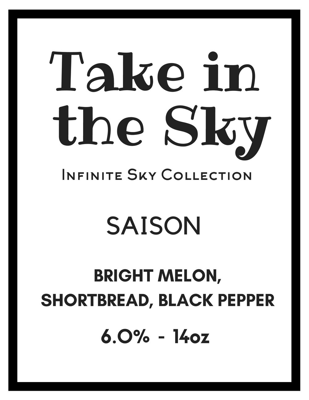 We brewed this beer with a blend of Belgian and French Saison yeast and let it free-rise. Made with all VA-grown Pilsner malt, Eastern Shore MD raw wheat and hopped exclusively with Goldings, this beer is crisp dry and refreshing.