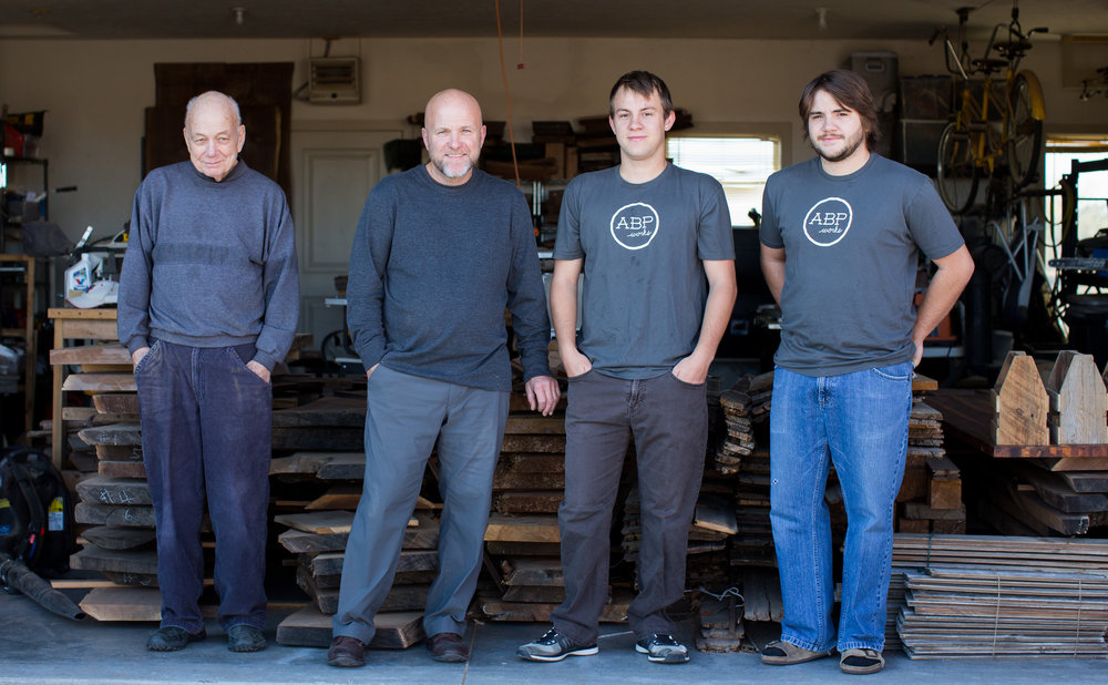 3 generations of ABP workers! Jerry, Todd, Ben and Anderw