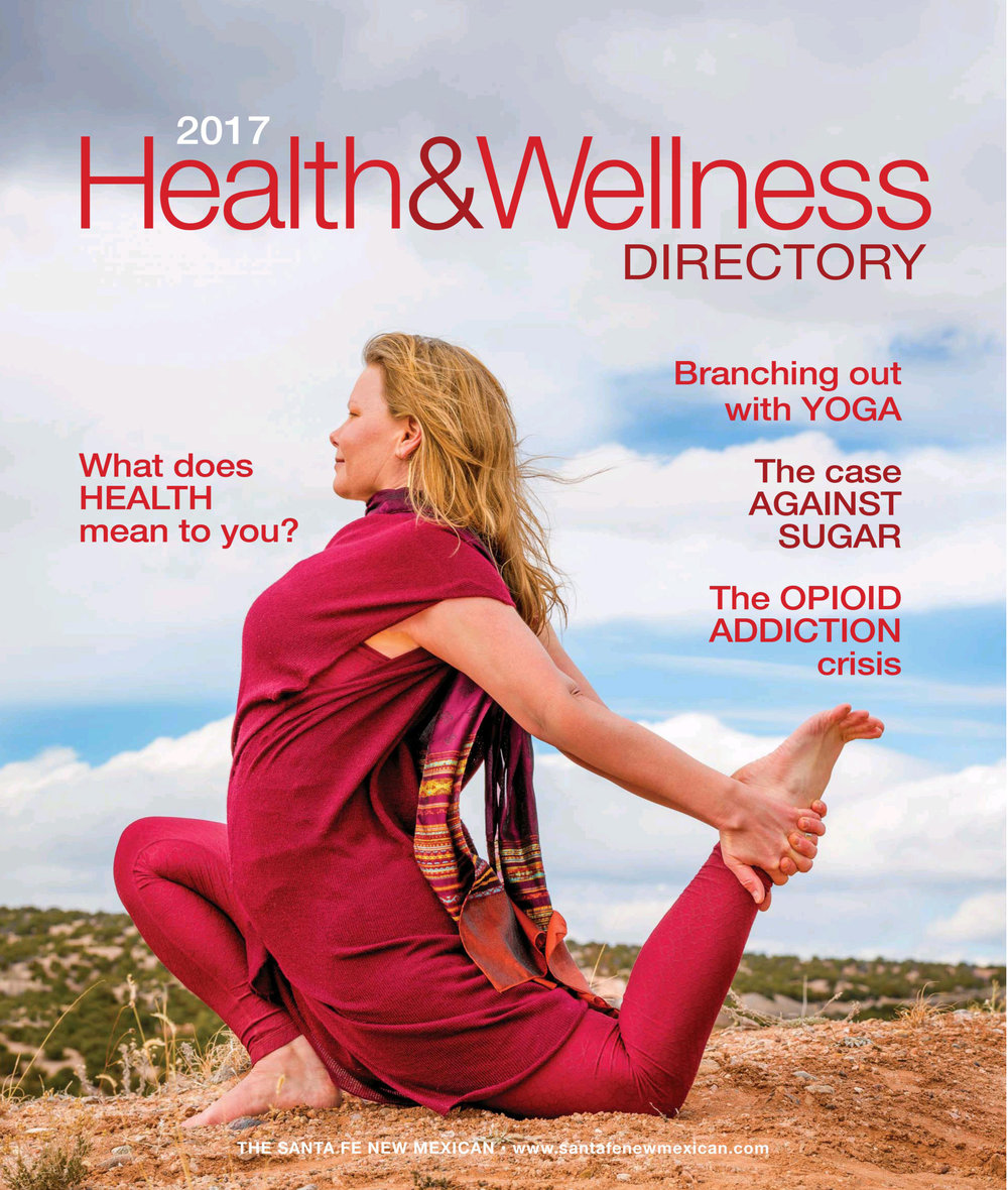 Melissa was featured on the cover of the Santa Fe New Mexican Health and Wellness Directory - Spring of 2017 -