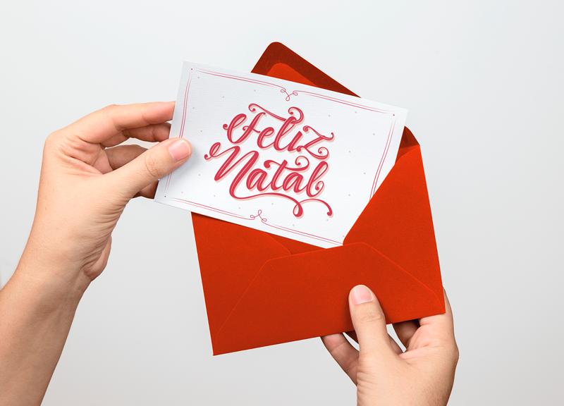 Xmas card - Para baixar, imprimir e enviar mensagens de Natal!