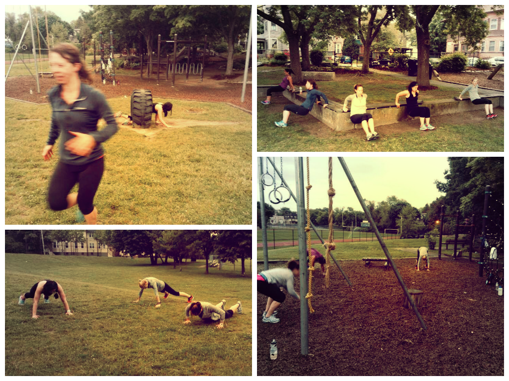 Denise's first Outdoor Boot Camp of the Summer!