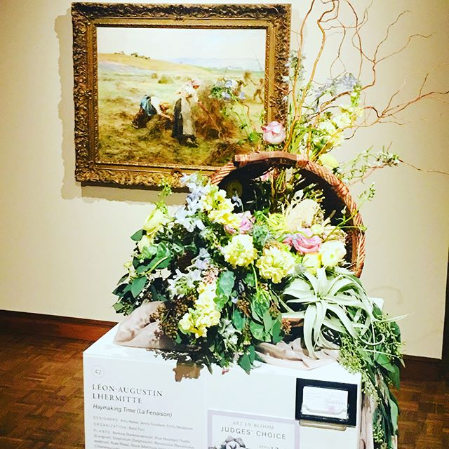 """Art In Bloom"" at the Milwaukee Art Museum  #artinbloom2018 #artinbloom #milwaukeeartmuseum #mam"