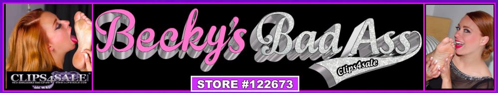 "PURCHASE EACH OF BECKY'S JOI CLIPS Along With 3O ADDITIONAL CLIPS BY VISITING ""BECKY'S BADASS CLIPS4SALE"""