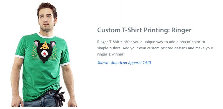 Custom T-Shirt Printing: Ringer