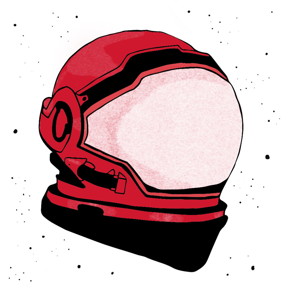 Illustrated Space Helmet