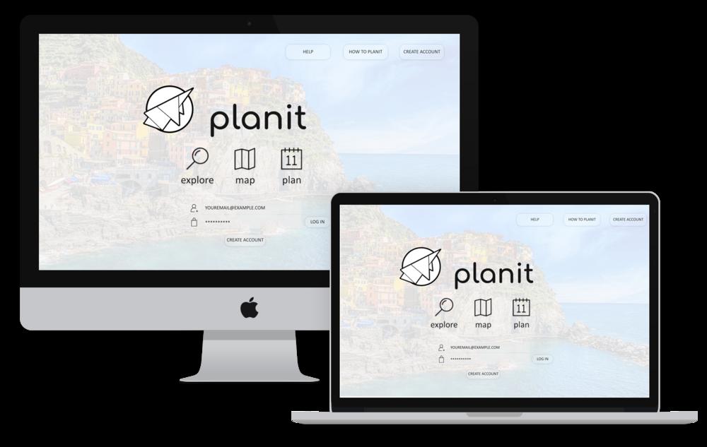 Planit Desktop Mockup
