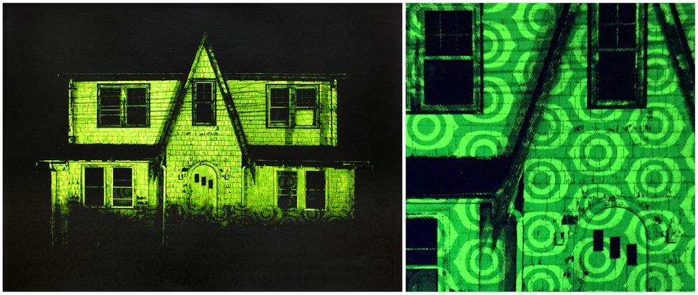 "Remi Thornton, ""Yellow House, Blacklight Variant"" ( available in the shop )"