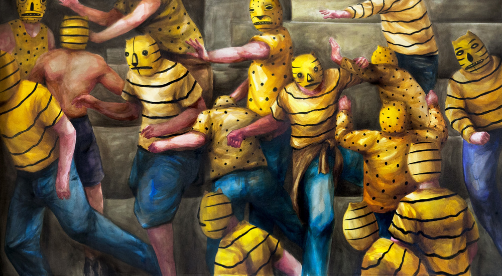 IDENTIDADA II by Franco Fasoli JAZ Acrylic and Oil on Canvas. 9 ft x 4.9ft. 2014.